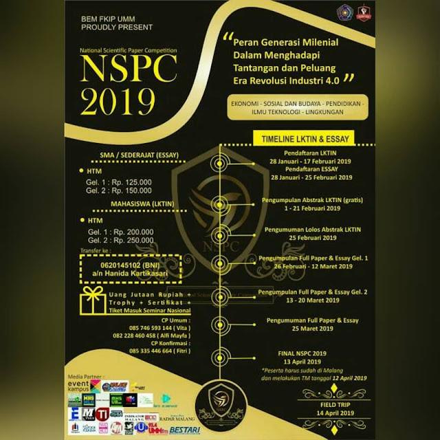 Lomba Paper LKTIN & Essay NSPC 2019 SMA Sederajat/Mahasiswa