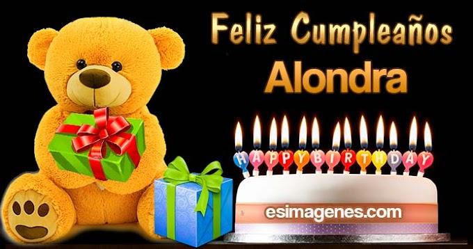Feliz Cumpleaños Alondra