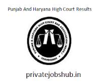 Punjab & Haryana High Court Results