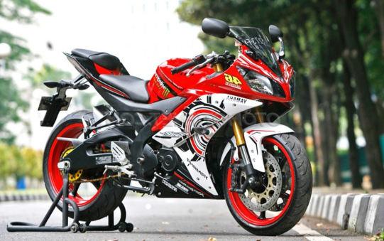 Hasil Modifikasi Yamaha New V-Ixion Lightning Mirip R15 Fairing Ala MotoGP
