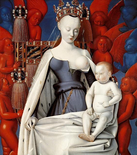 Jean Fouquet - La Vergine e il Bambino circondati dagli angeli