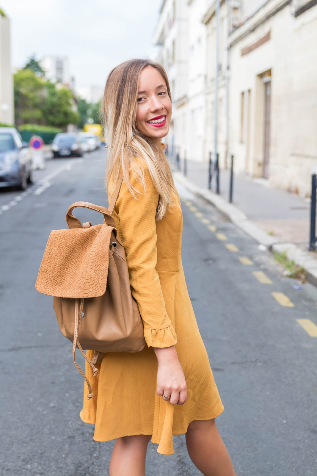 robe jaune moutarde automne