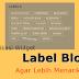 Cara Memodifikasi Widget Label Blog Agar Lebih Menarik