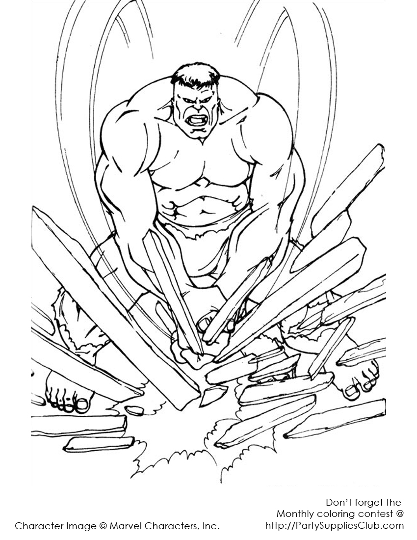 hulk coloring pages - photo #30
