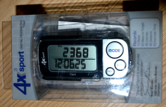 Ozeri 4x3sport Digital Pocket 3D Pedometer. 30 day memory