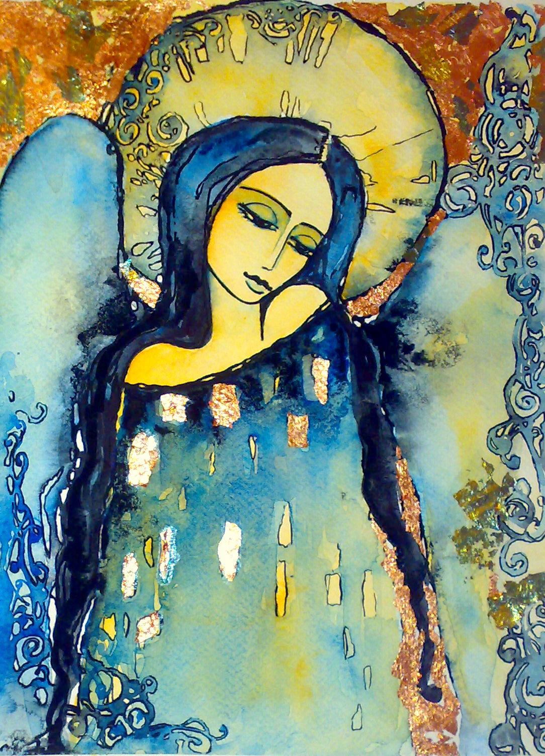 Moje malowanie... : akwarele-anioly