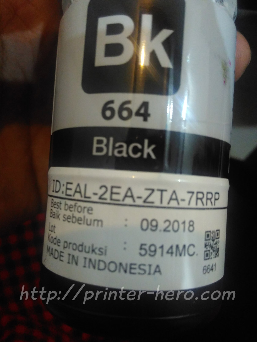 serial number tinta epson l350