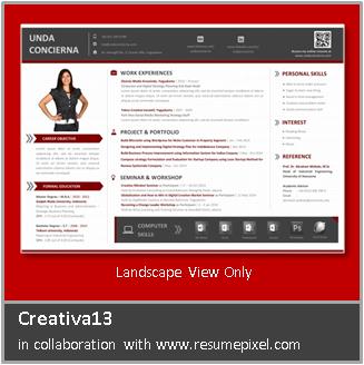 Contoh CV Kreatif Profesional