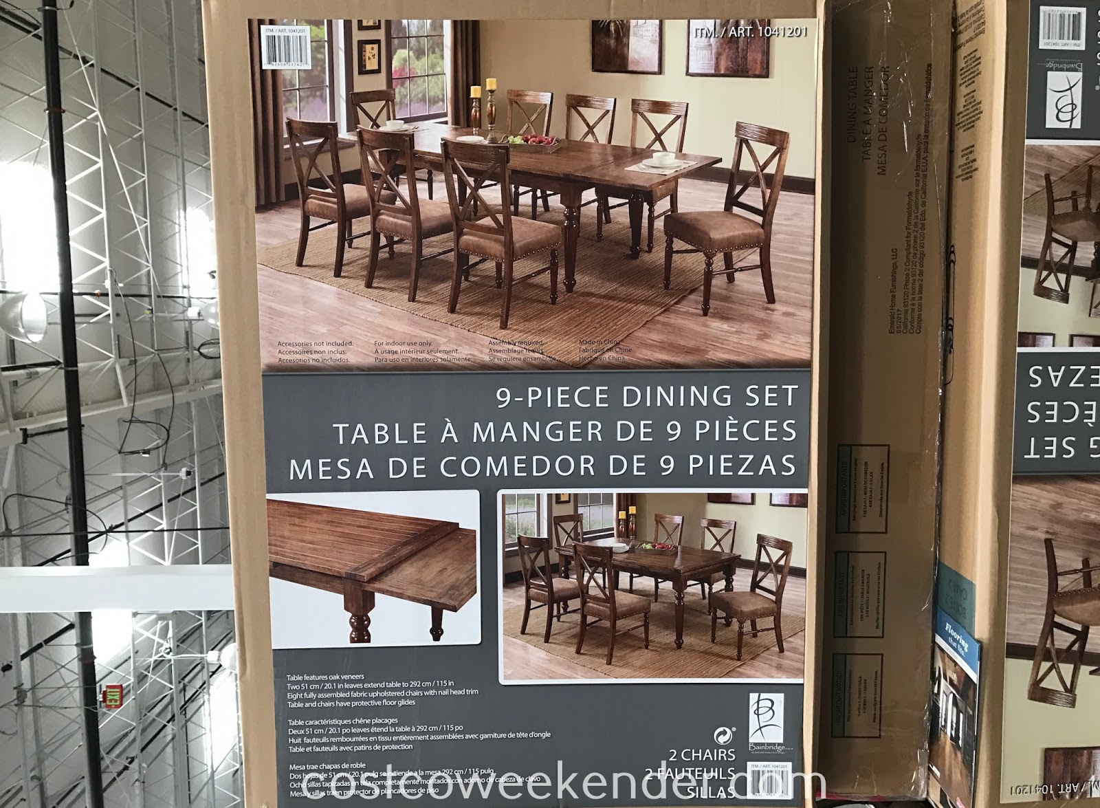 Costco 1041201 - Enjoy Sunday dinners with the family with the Bainbridge 9-piece Dining Set