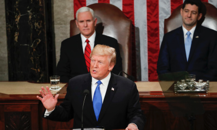 Donald Trump Scorches NFL Protests In First State Of The Union; Praises Apple & Obamacare Repeal