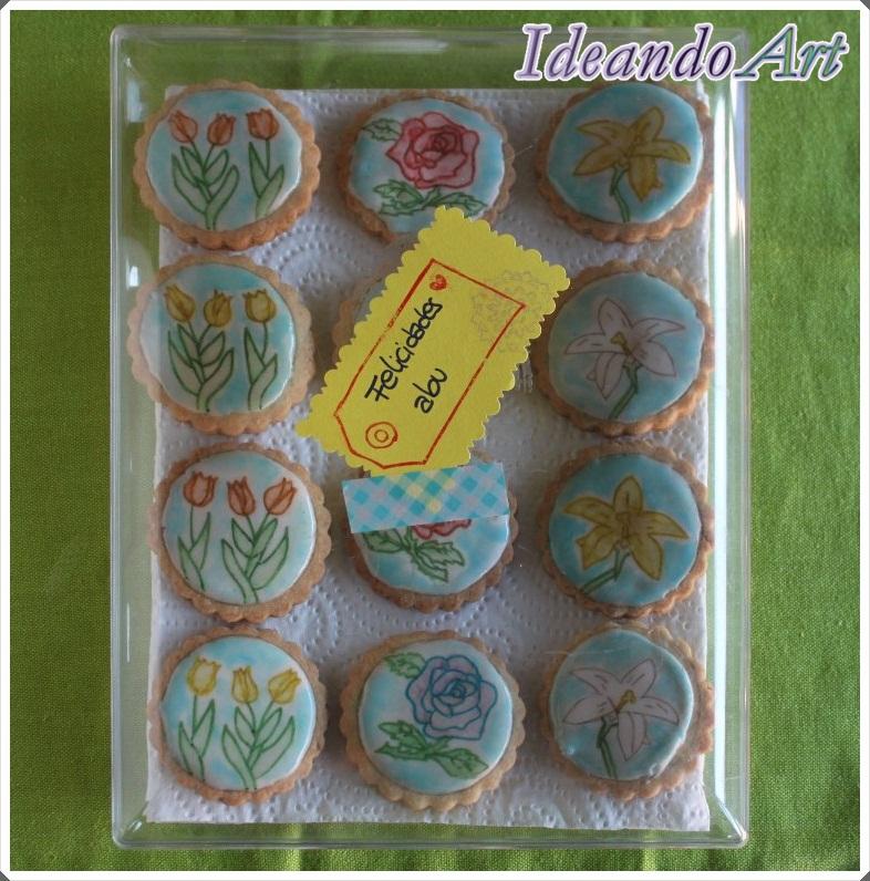Caja galletas pintadas