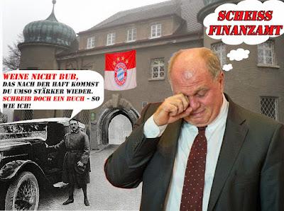 Uli Hoeneß im Hitler Gefängnis Landsberg lustig mit Spruch