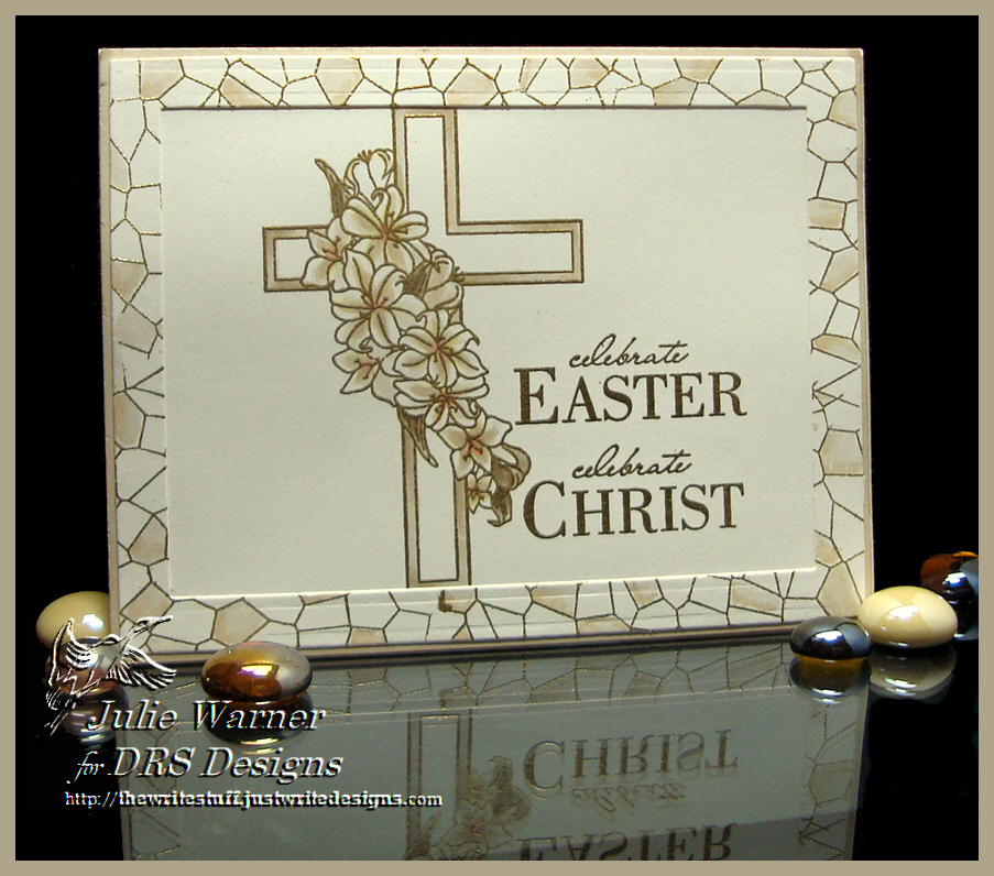 Triple Cross Rubber Stamp by DRS Designs