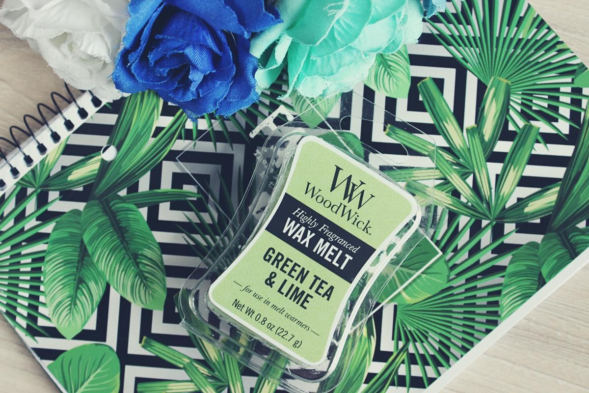 wosk woodwick green tea&lime