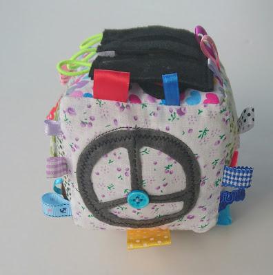 Развивающий кубик для детей транспорт ручная работа