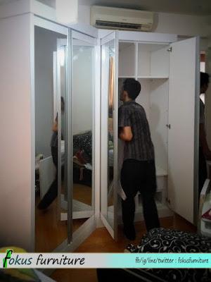 Pemasangan lemari di apartemen rasuna