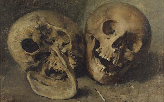 Karl Stauffer-Bern, Schädelstudie, 1881