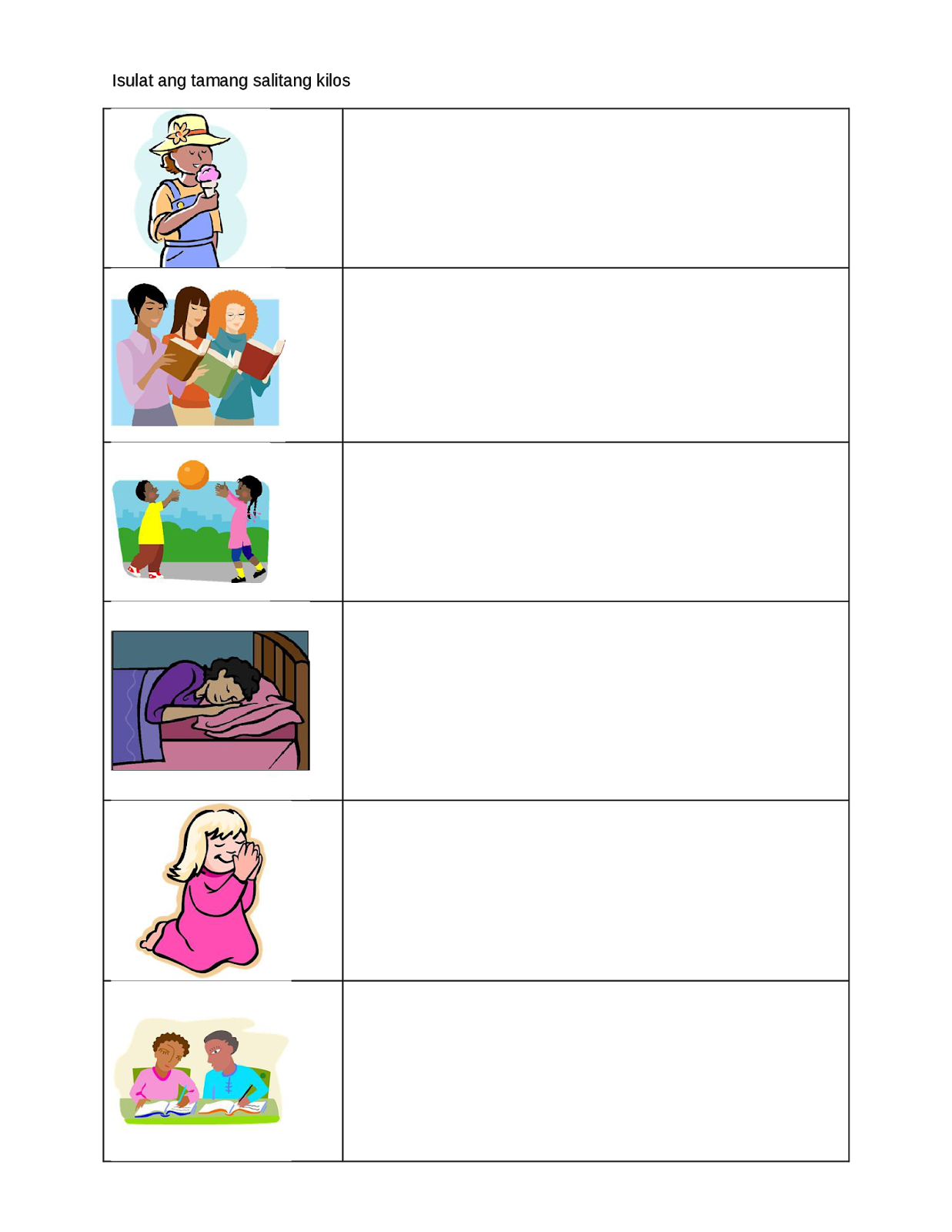 Aspekto Ng Pandiwa Worksheet   Printable Worksheets and Activities for  Teachers [ 1600 x 1237 Pixel ]