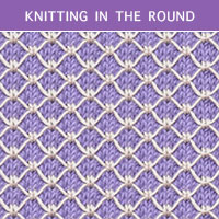 Royal Quilting stitch - Knitting in the round