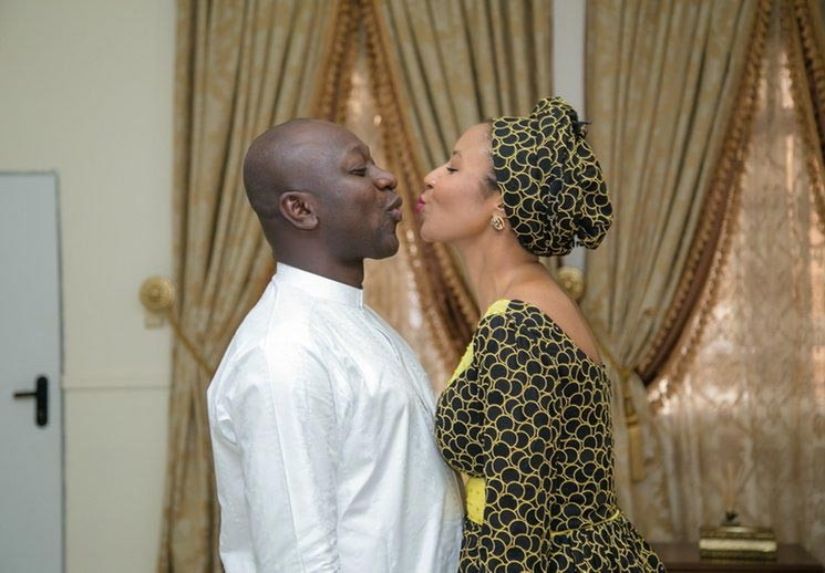 Abdulmumin Jibrin posts romantic picture of himself and his wife