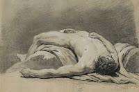 Jean-Jacques Bachelier, homme nu couché