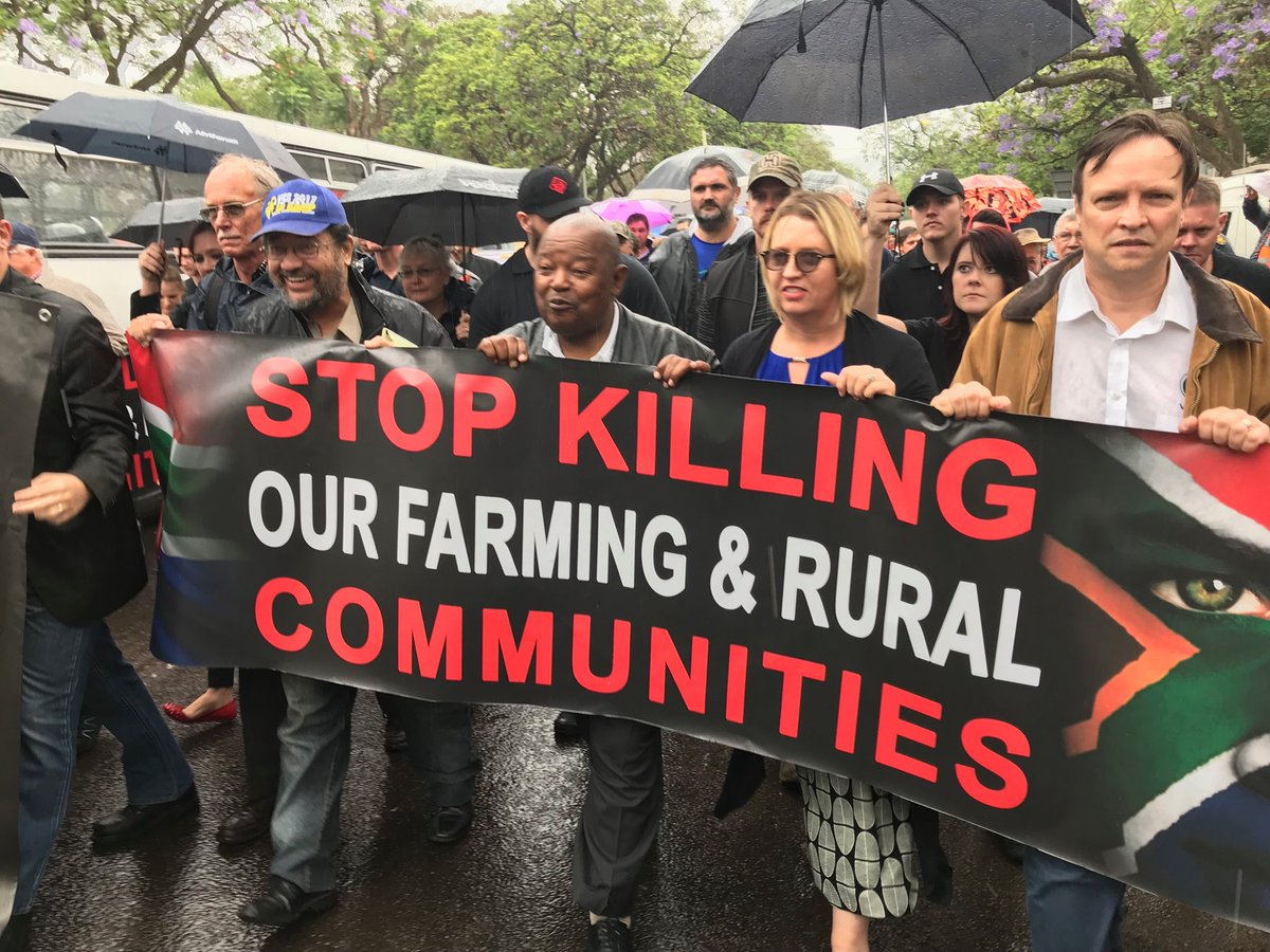 Farmmurders White South Africa Farmers In New Protest Over Murders -7338