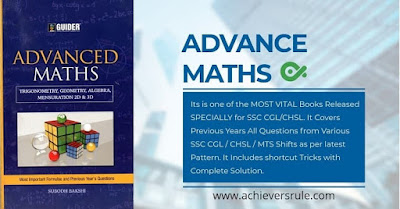 Best Book for ADVANCE MATHS - SSC CGL & CHSL Exams