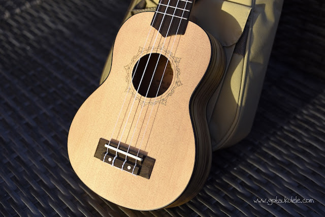 Flight DUS 320 SP/ZEB Soprano ukulele body