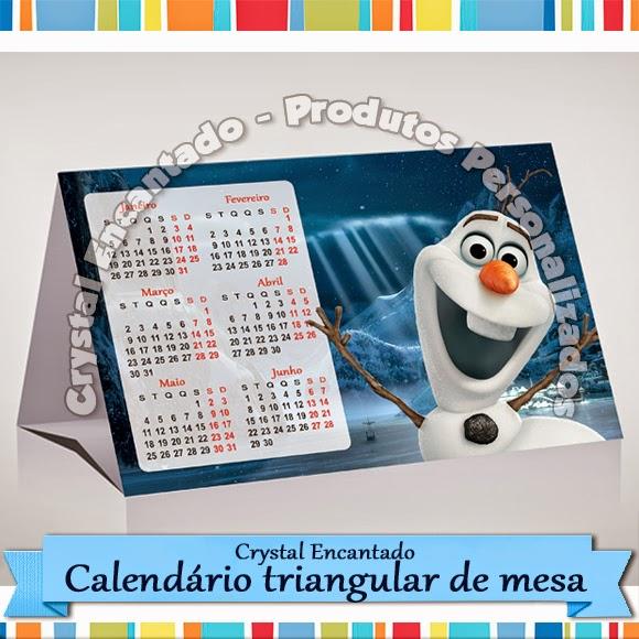calendario de mesa Frozen