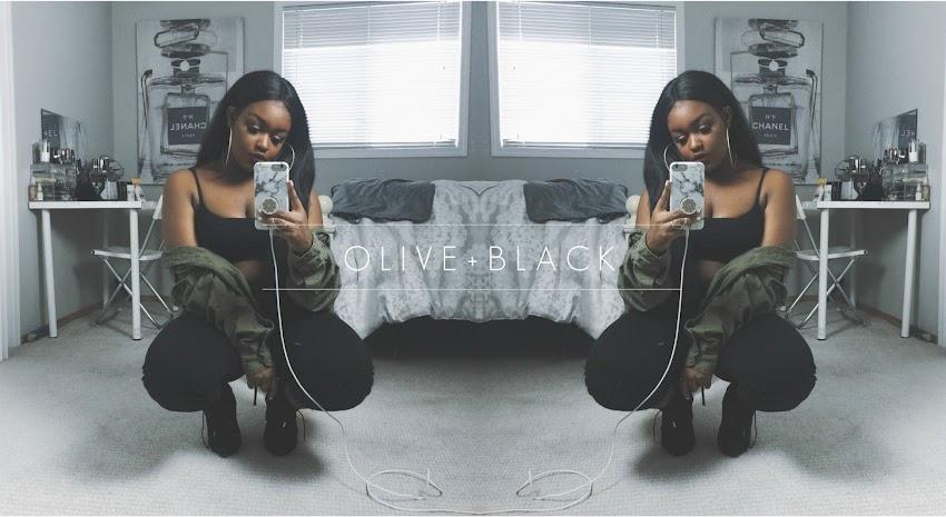 OLIVE + BLACK (MILITARY-INSPIRED OUTFIT) | FASHION NOVA