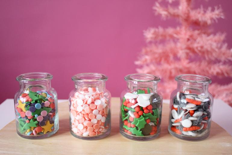 homemade christmas sprinkle mixes