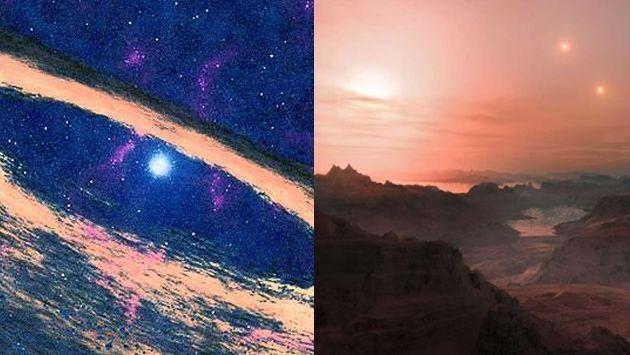 Descubren sistema solar de 13 millones de años y planetas habitables