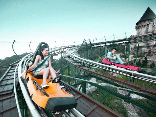 Alpine coaster Ba Na Hills ~ photo by Ba Na Hills