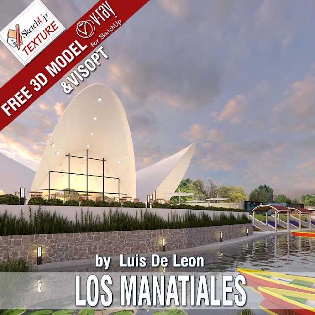 Free sketchUp 3D model Los Manantiales Restaurant