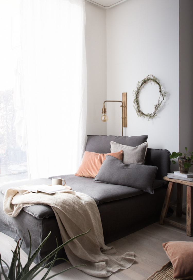 my scandinavian home: My daybed update / 15% off at Bemz! on chaise sofa sleeper, chaise furniture, chaise recliner chair,