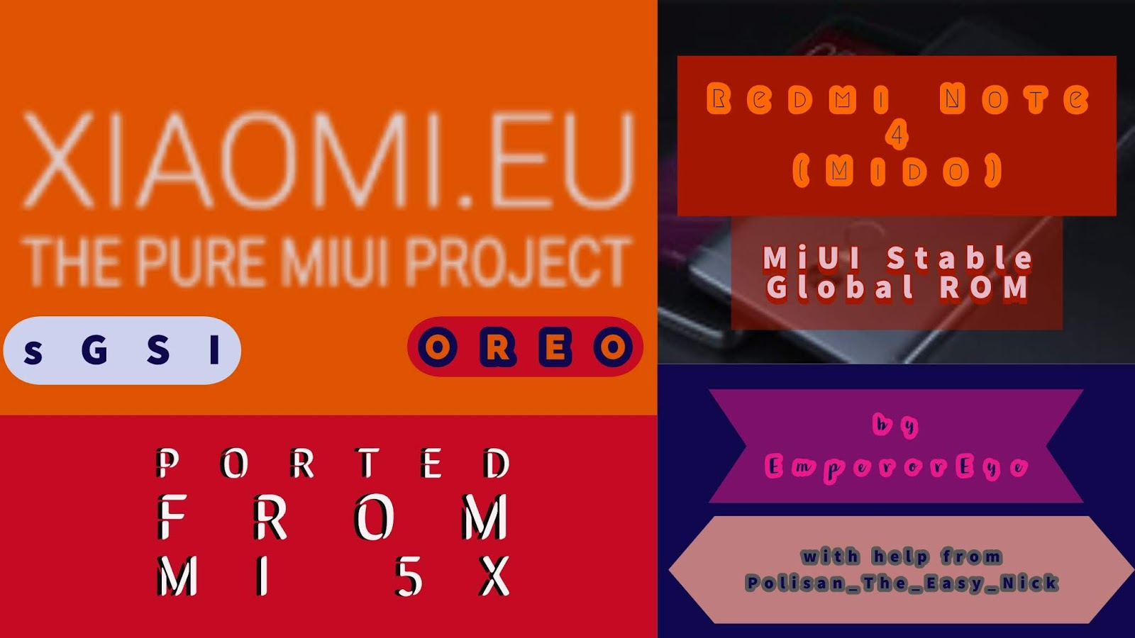 Xiaomi Eu Stable Global MiUI 10 Oreo sGSI for Redmi Note 4