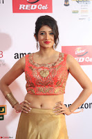 Harshika Ponnacha in orange blouuse brown skirt at Mirchi Music Awards South 2017 ~  Exclusive Celebrities Galleries 081.JPG