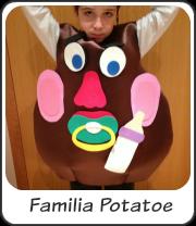 Disfraz familia potatoe