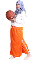 Rok Celana Olahraga Muslimah Rocella Sporty Orange