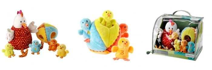 Bebé gallina y pollitos Lilliputiens juguetes niños