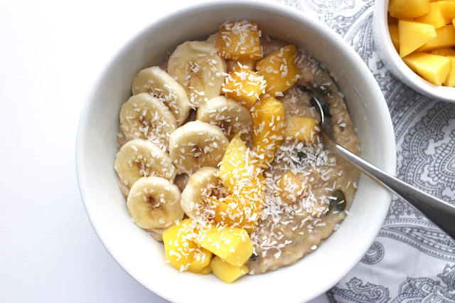 Mango, Banana and Coconut Porridge