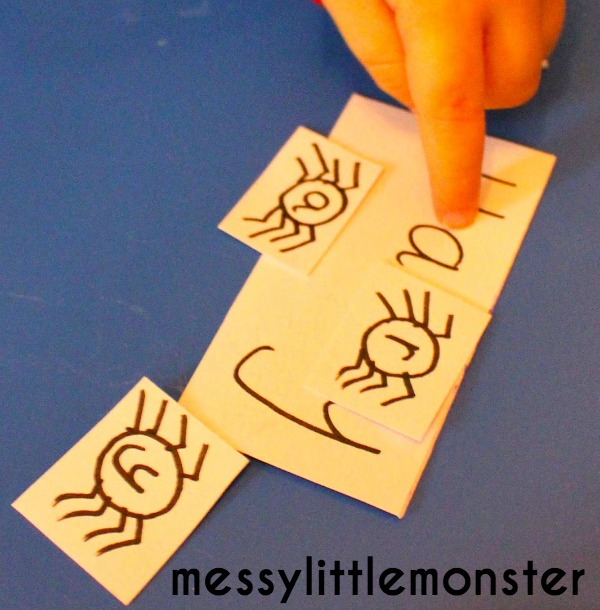 spider name recognition skills.  A simple learning activity for toddlers and preschoolers.