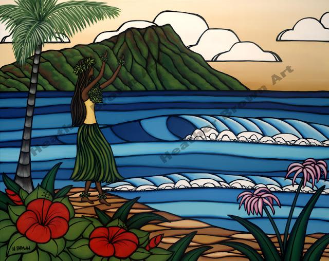 heather brown hawaiian art popular