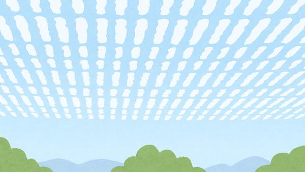 うろこ雲のイラスト