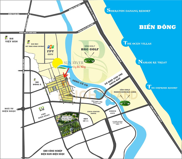 Sơ đồ vị trí dự án Sunriver City