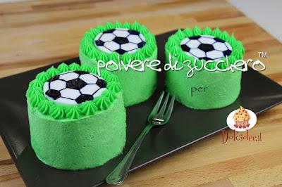 europei di calcio cake design pasta di zucchero polvere di zucchero dolcidee mini cake crema al burro