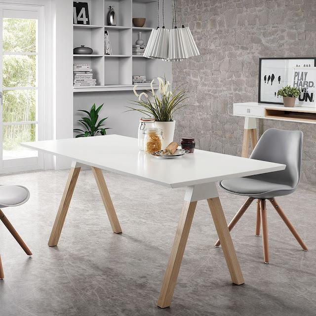 Muebles para casas peque as mesas nordicas para comedores for Mesas comedores pequenos