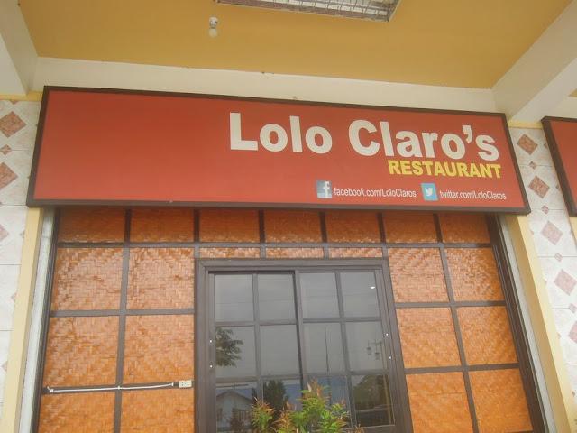 The entrance of Lolo Claro's Restaurant