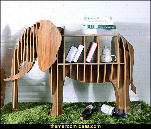 elephant furniture  Wooden Elephant Model Art Table Furniture