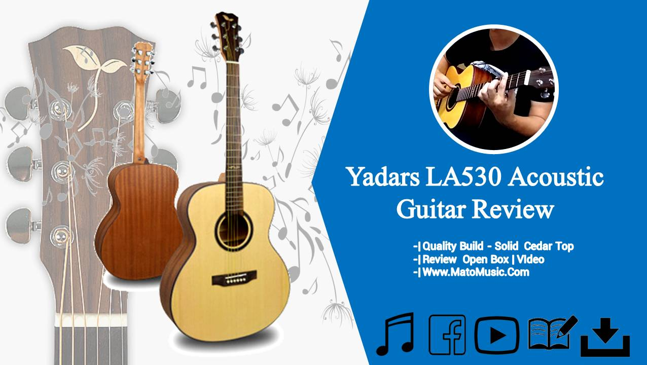 Yadars LA530 Om Size Acoustic Guitar With Solid Spruce Top Review and Open Box Video